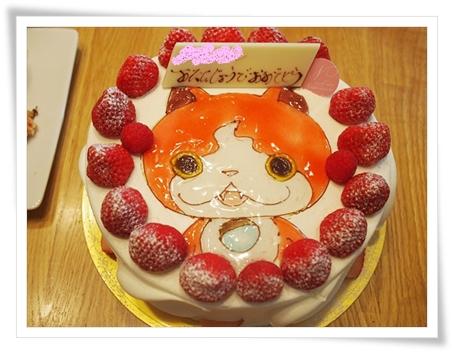 バースデーケーキの絵柄は妖怪ウォッチのキャラ ジバニャン♪