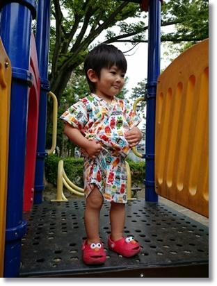 ボクも子供のころに遊んだ中村公園にて♪