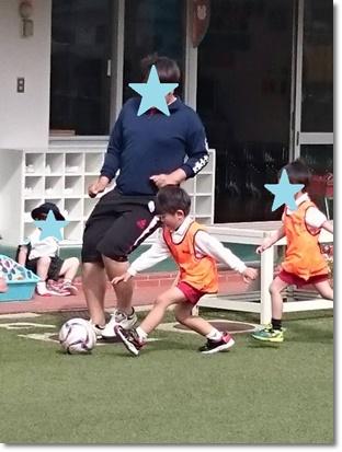 はじめてのサッカー体験^^