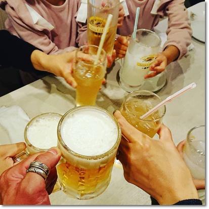 みんなで乾杯♪