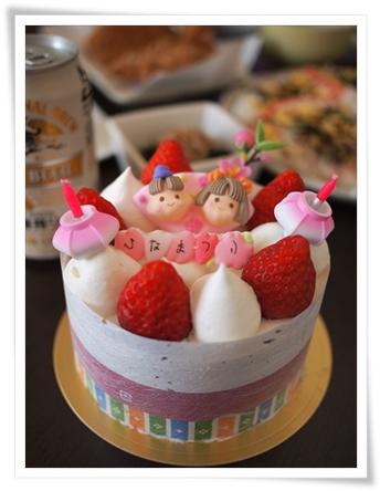 ひなまつりケーキ♪