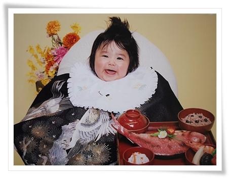 ユラの百日祝い記念写真♪